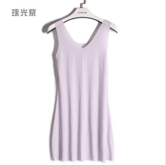 M-5XL Plus size women nightdress model soft night shirt sleeveless sexy v-neck summer dress sleepwear nightgowns female   4