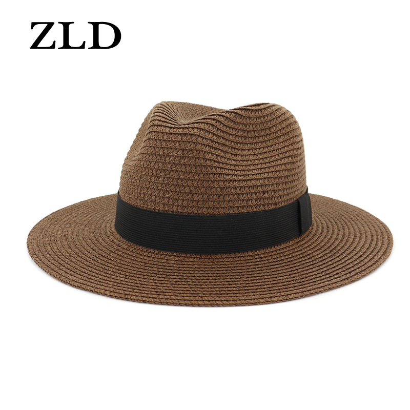 ZLD Male Couple hat ladies jazz straw hat outdoor beach hat sunshade straw hat fashion 2019 Summer cap  mens fedora woman hat