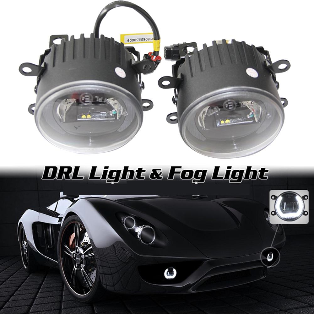 ФОТО 2Pcs/Lot Super Bright Cree LED Chips Car Light Universal Daytime Running Light LED Fog Light Head Lamp 10W 7000k Car Lights