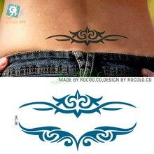 Waterproof Temporary Tattoo Sticker on body sexy waist vines totem tattoo Water Transfer fake tattoo flash tattoo for girl women