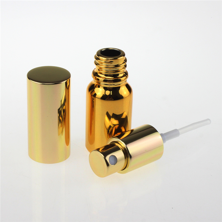 100 pcs emas kabut halus 10 ml botol semprot kaca mini untuk parfum, - Alat perawatan kulit