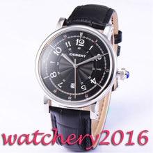 Luxury 43mm Debert black dial date window 21 jewels miyota 8215 Automatic movement men's Watch