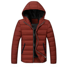New 2016 Spring Winter Jacket Men Brand High Quality Down Cotton Men Clothes Outwearing Warm Jacket Coats Black Plus Size 4XL