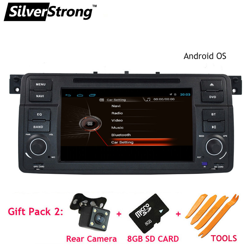 SilverStrong Android QuadCore 1024*600 Car DVD for BMW E46 318 320 Car gps DAB M3 3series with WIFI Navi Radio BT