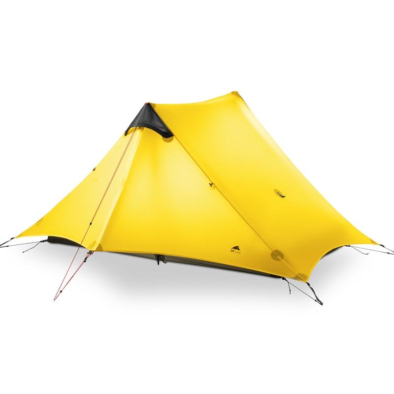 цена на 2018 LanShan 2 3F UL GEAR 2 Person Oudoor Ultralight Camping Tent 3 Season Professional 15D Silnylon Rodless Tent 4 Season