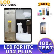 6.0 inç HTC U12 artı LCD ekran dokunmatik ekranlı sayısallaştırıcı grup HTC U12 + artı ekran yerine