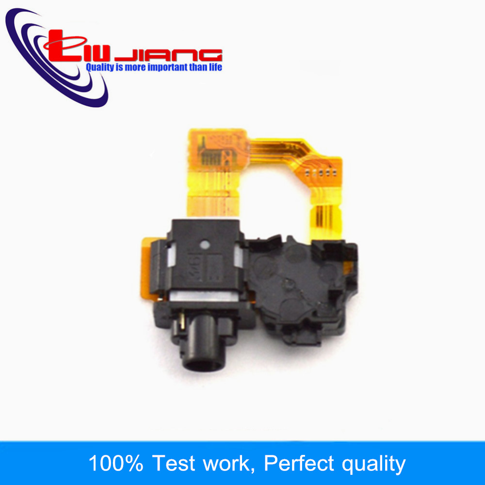 Liujiang Original Headset Jack For Sony Z1 L39h C6903 C6902 Earphone Audio Headphone Socket Plug Port Flex Cable Repair Part