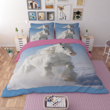 Horse 3D Bedding Set Duvet Covers Pillowcases  bed cover set Twin Full Queen King Comforter Bedding Sets Bedclothes Bed Linen цена