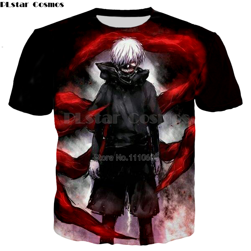 PLstar Cosmos Hot Anime Tokyo Ghoul 3d print T-shirts New style Fashion Men/Women tshirts Loose Thin free shipping Shirts Tops