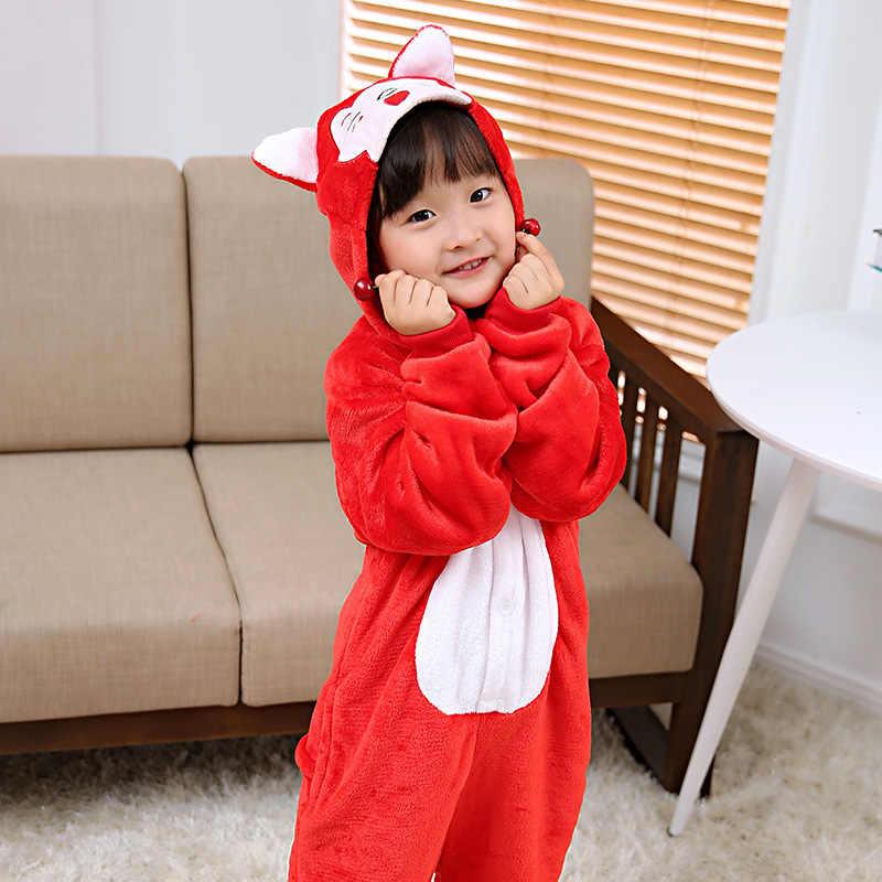 Mioigee детей Костюмы Детские пижамы Дети животных Cat Kigurumi Дети пижамы  для сна домашний комбинезон c4e477fe4958b
