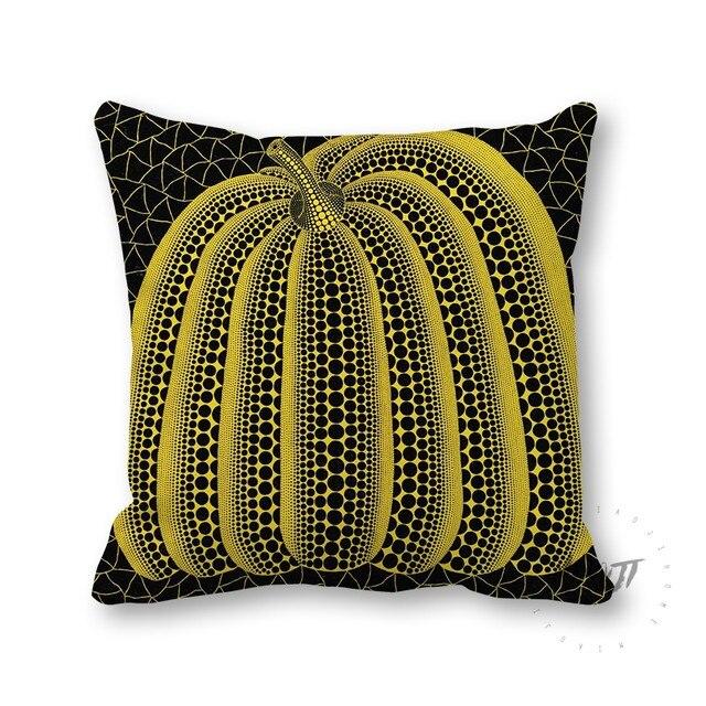 online shop yayoi kusama artist dots pumpkin multi size throw pillow