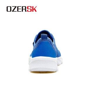 Image 3 - OZERSK الرجال أحذية رياضية الصيف حذاء كاجوال تنفس الرجال شبكة خارجية أحذية الرجال الدانتيل يصل أحذية خفيفة البحرية السوداء حجم كبير 39 48