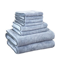 Microfiber Absorbent Bath Towel Hair for Adults Thick Men Beach Towel Polyester Family Bathroom Hand towel Travel sport Towels