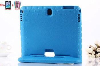 Coque à poignée pour enfants, étui pour Samsung Galaxy Tab 4 T530 EVA, P5200 Note 10.1 2014 édition P600, support + film