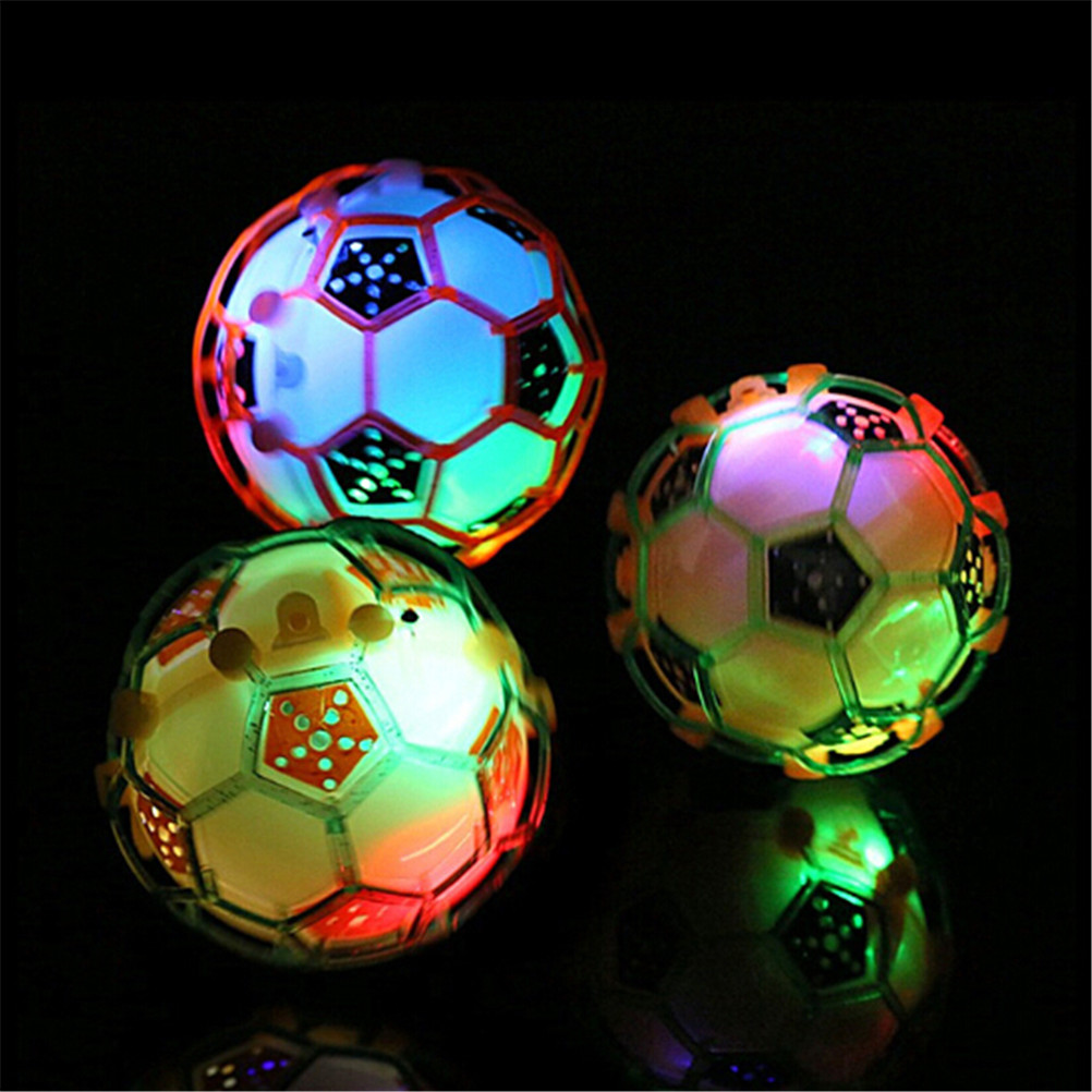 LED Jumping Joggle Sound Ball Dancing Music Football Toys Electric Flashing Light Bouncing Soccer For Kids Ball