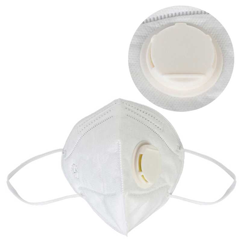 Dust Valved Nonwoven Filter N95 Vertical White Masks Folding