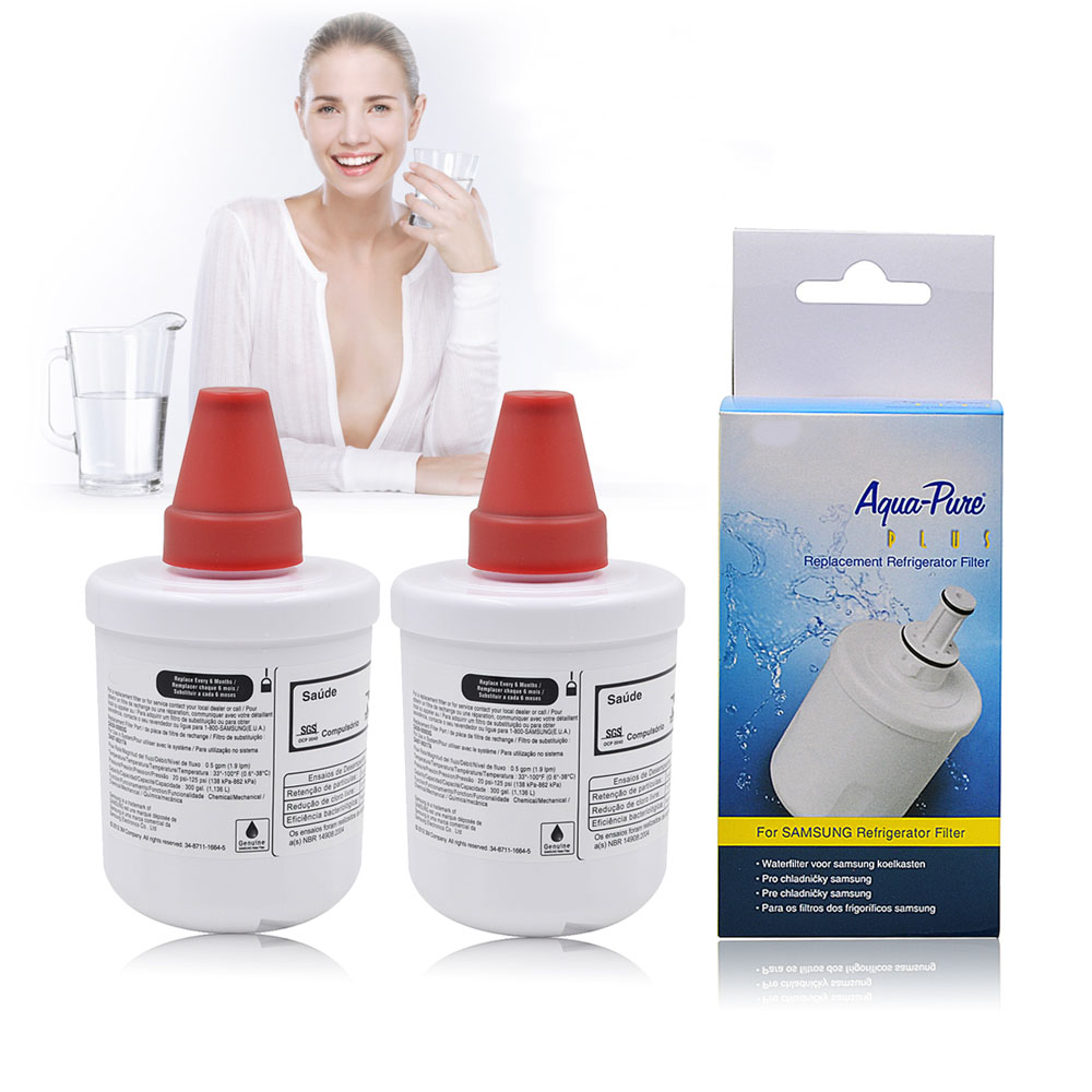 Refrigerator Water Filter Replacement for Samsung DA29-00003G DA29-00003B, DA29-00003A Aqua-Pure Plus Water Purifier 2 Pcs/lot цена