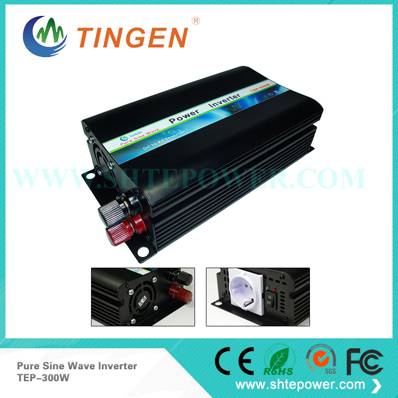 300w DC 12v 24v to AC 110v 220V pure sine wave solar power inverter