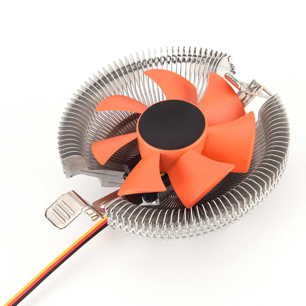 Kualitas tinggi Praktis Rotasi CPU Cooling Heatsink CPU Cooler Radiator Pendingin Heatsink Untuk Intel LGA 775 Penggemar Kecepatan Tinggi