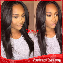 New Style Fashion  Long Straight Black wigs women wigs Synthetic  Full Lace Hair Wigs Cosplay African american Heat Resistant