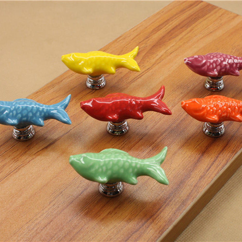 10X Retro Fish Ceramic Door Knob Kid Room Cupboard Cabinet Drawer Pull  Handle In Cabinet Pulls From Home Improvement On Aliexpress.com | Alibaba  Group