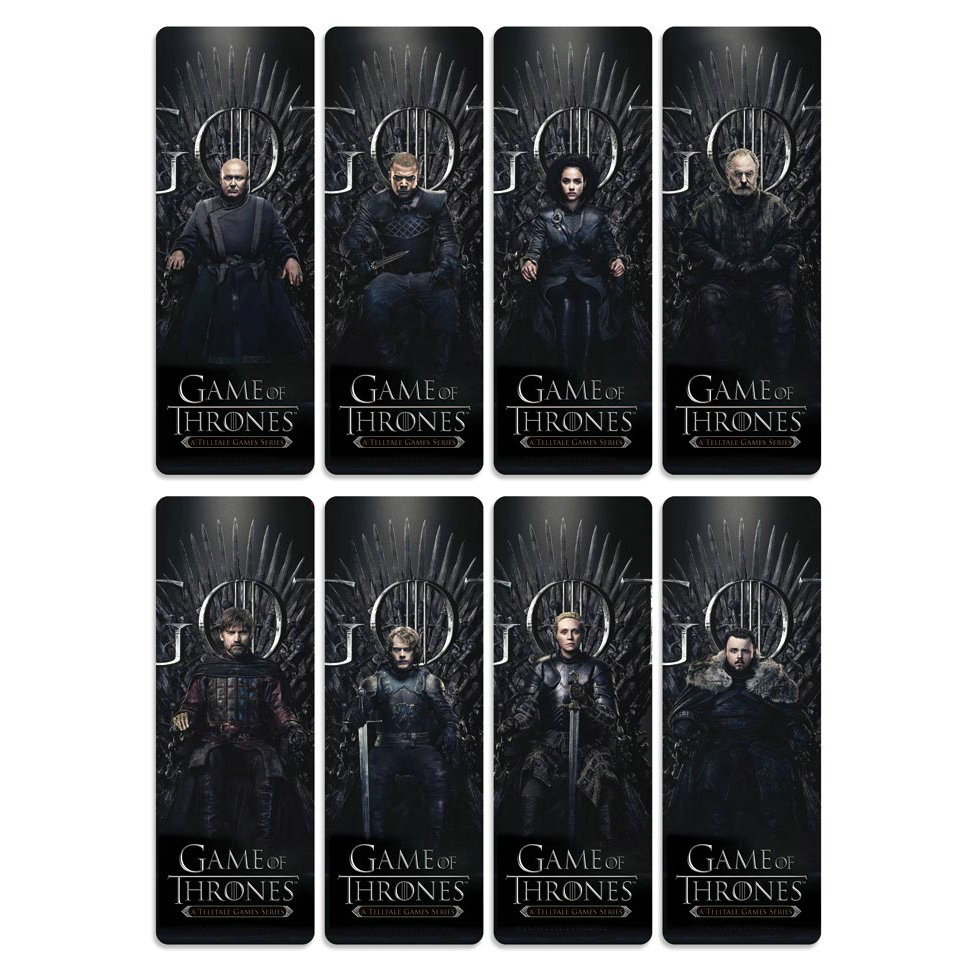 8pcs Game Of Thrones Bookmarks Waterproof Transparent PVC Plastic Bookmark Beautiful Book Marks Gift