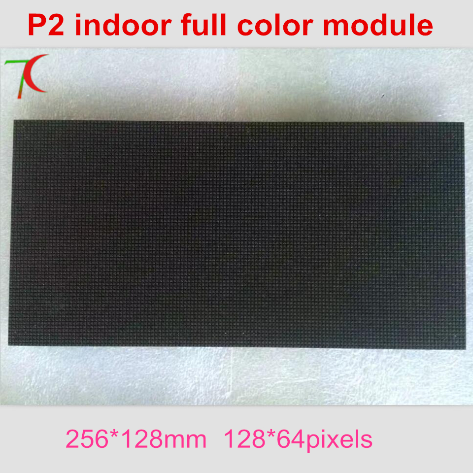 P2 Rgb Indoor Huge Panel 32scan Dot Matrix Led Billboard  Full Color Led Module Hub75 Smd Led Board ,256mm*128mm