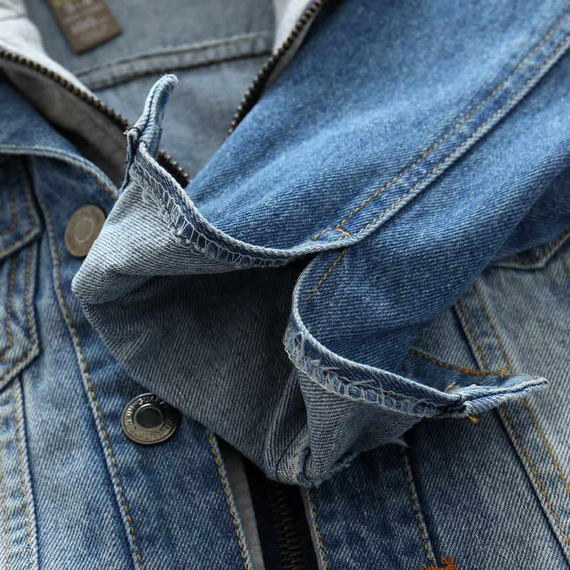 Новинка 2019 года; пальто для маленьких мальчиков; сезон весна-осень мягкое джинсовое пальто на молнии с капюшоном; джинсовая куртка для детей; одежда для детей