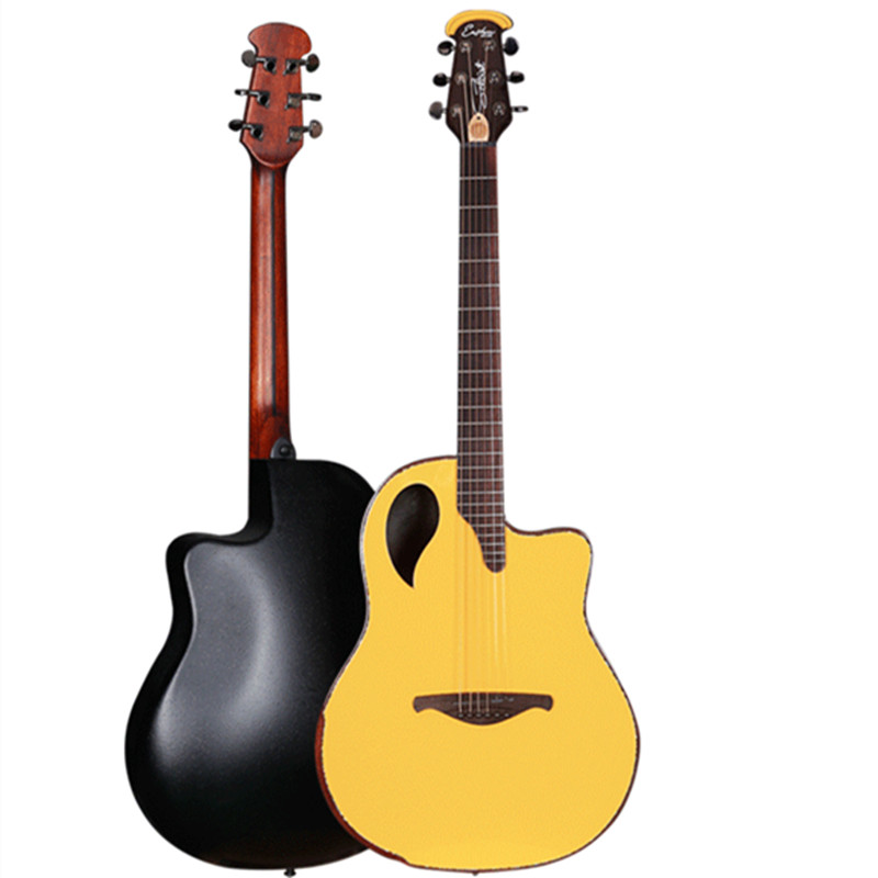 High Quality Round Back Ovation Acoustic-electric Guitar with Carbide alloy of Shell Guitarra factory guitarra sharp cutway acoustic guitar 40inch high quality with free string
