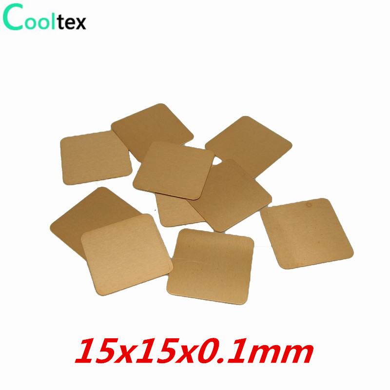 20pcs Lot 15x15x0 1mm Diy Copper Shim Heatsink Heat Sink