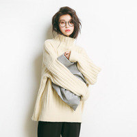 Pull Hiver Femme 2018 White Cashmere Sweaters Turtleneck Pullovers Thick Winter Clothes Women Oversized Sweater Korean Knitwear