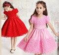Девушки летнее платье 2015 elbise бальные платья vestido де фиеста roupas infantis bebe menina vestido azul цветочные meninas vestir