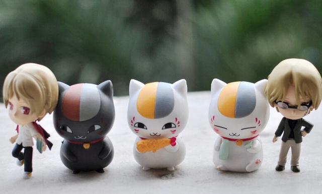 5pcs/set Cute Natsume Yuujinchou Mini Nyanko Sensei Action Figures PVC brinquedos Collection Figures toys for christmas gift