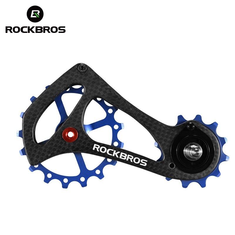 ROCKBROS Bicycle Rear Derailleur Guide Carbon Fiber 11 Speed Bike Pulleys Bearing Jockey Wheel Set For