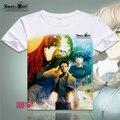 Япония аниме штейнс ворота майка японских мультфильмов футболка Makise Kurisu косплей костюмы футболки топы