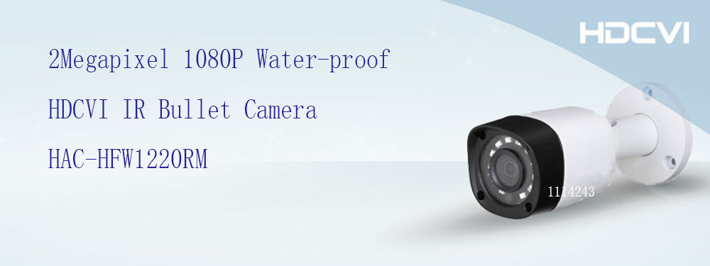 цена на Free Shipping DAHUA Security Camera CCTV 2MP 1080P Water-proof HDCVI IR Bullet Camera without Logo HAC-HFW1220RM