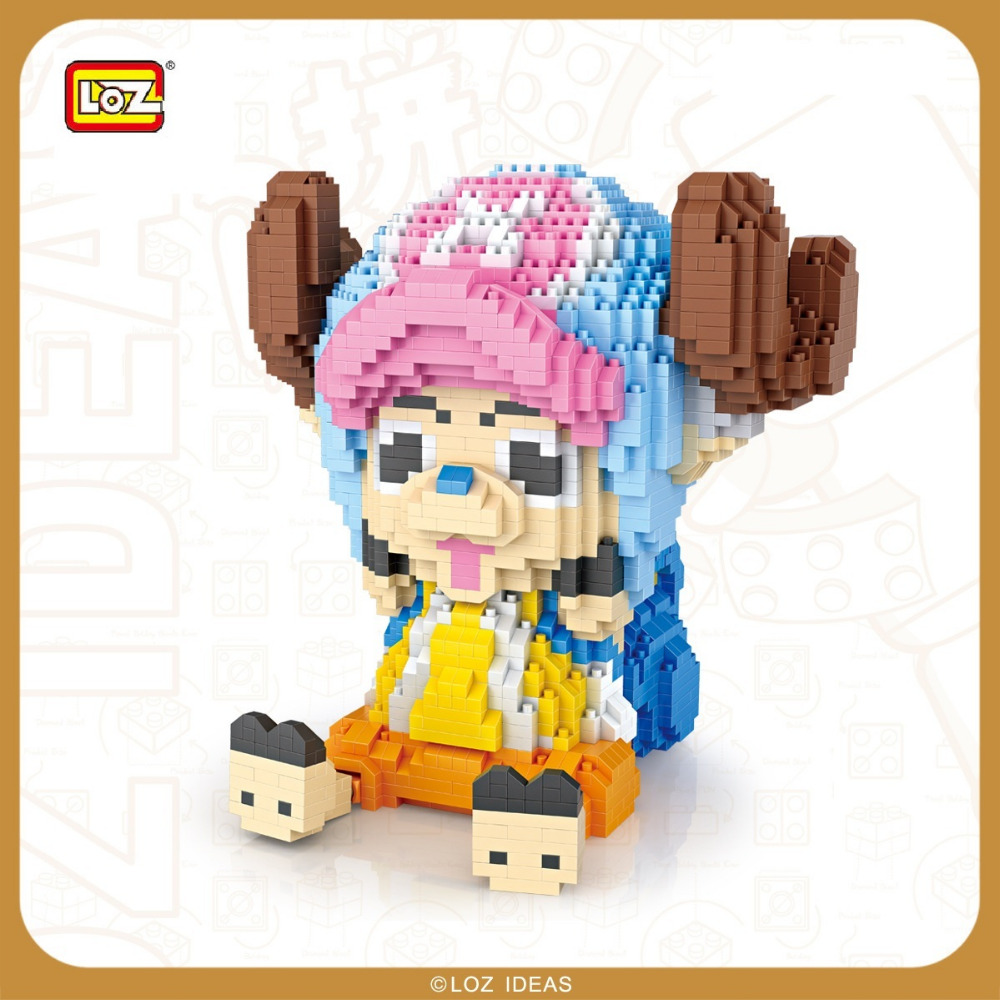 LOZ Diamond Block One Piece Tony Tony Chopper Action Figure Anime Assmbly Model Micro Block LOZ Toys For Children Gift 9044