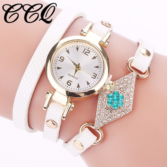 Dropshipping Women Gold Eye Gemstone Watch Luxury Women Bracelet Watch Female Le