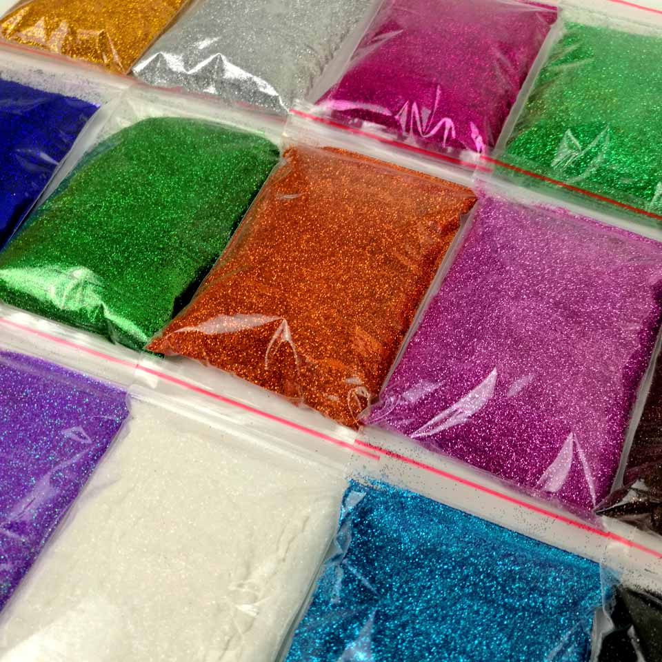 Acrylic Nail Powder Holographic: 50g Holographic Glitter Powder Colored Metallic Powder