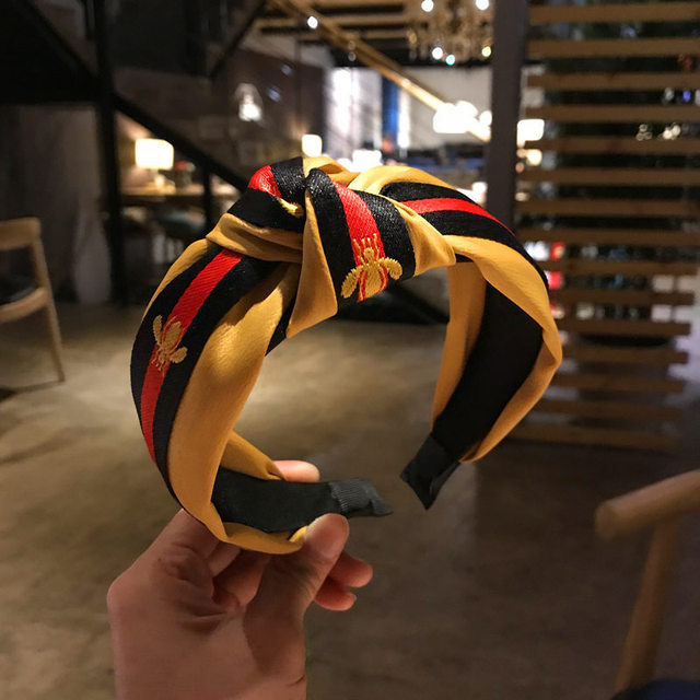Korea Style Hair Accessories Tartan Design Headband Girl Hair Bands 3