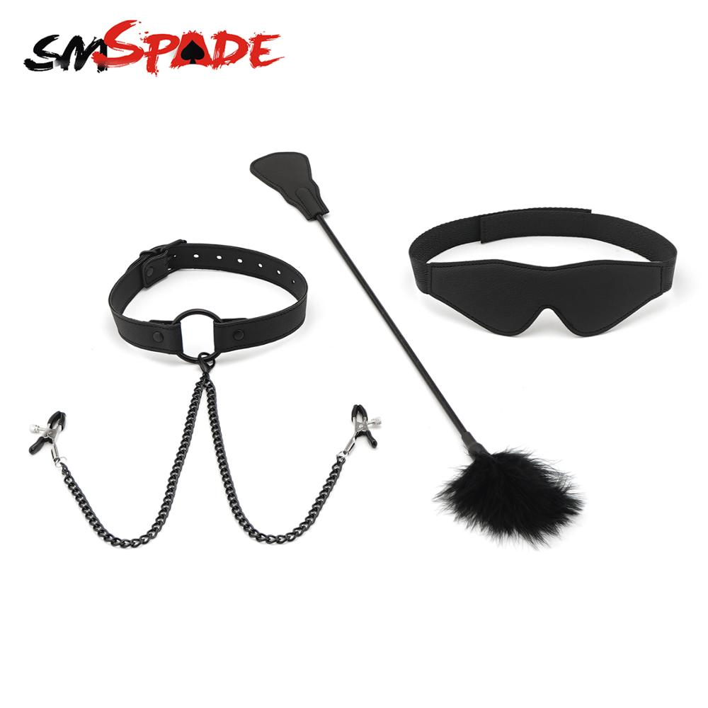 Breathable Black Faux Leather Mouth Ball Gag Bedroom Lover Role Play Kit
