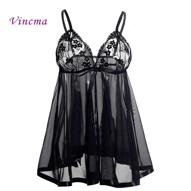 S M L XL XXL 3XL 4XL <font><b>5XL</b></font> 6XL Plus Size Women Embroidery Bra Bow Erotic Underwear Hot <font><b>Sexy</b></font> <font><b>Lingerie</b></font> Babydolls Transparent Dress image