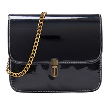 Fashion Women's Crossbody Clutch Bags Chain Hasp Shoulder Bag Solid Color Beach Bag Mini Coin Purse Pu Phone Messenger Bolsas