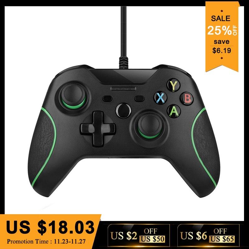 Controle USB Wired Controller Para Microsoft Xbox Um Controller Gamepad Para Xbox One Slim PC Windows Mando Para Xbox um joystick