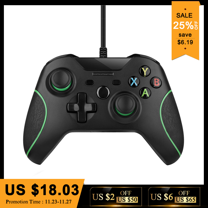 USB Wired Controller Controle Für Microsoft Xbox Einem Controller Gamepad Für Xbox One Schlank PC Windows Mando Für Xbox one joystick