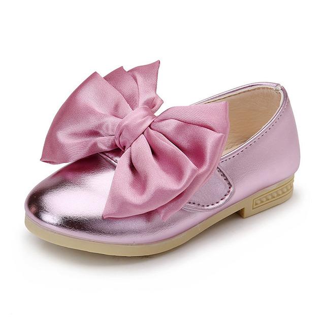 Nó borboleta bebê meninas shoes 2017 ano novo arco nó princesa shoes deslizar sobre crianças ballet shoes miúdos bonitos meninas bailarinas
