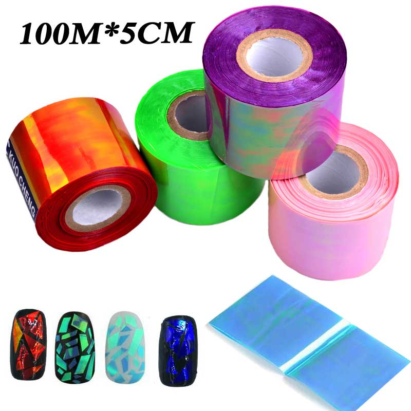 EMS/DHL Fast Express 20rolls (100m*5cm/roll) Holographic Broken Glass Laser Nail Art Transfer Foil Sticker Manicure Decoration dhl ems 1pc 1 1p 20 psen1 1 20 8mm