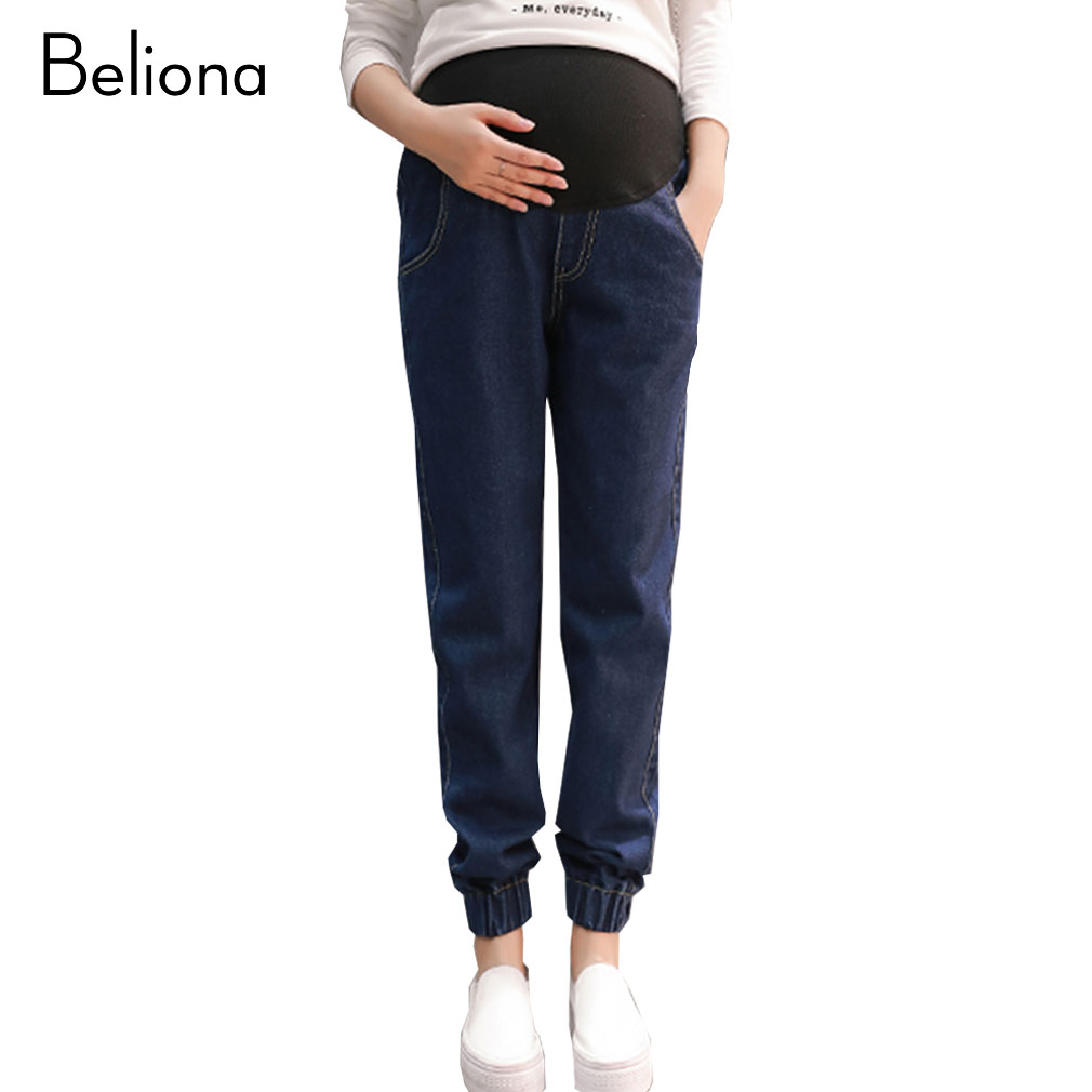 Spring New Maternity Jeans for Pregnant Women High Waist Harem Pants for Pregnancy Plus Size Maternity Clothes Premama woman fashion slim solid knee distrressed maternity wear jeans premama pregnancy prop belly adjustable pants for women c73