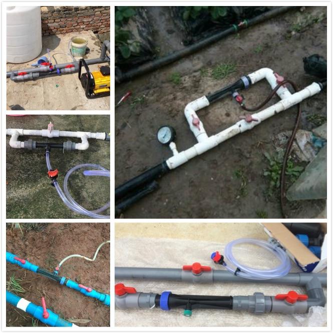 External thread irrigation venturi injector