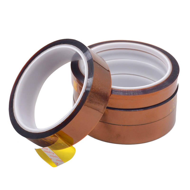 1PC 33M Length Heat Resistant Polyimide Tape High Temperature Adhesive Insulation Tape 3MM 5MM 8MM 10MM Width